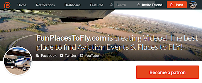 Patreon Aviation Places to Fly Aviation Events Videos News Airport Search aviation airshow airport fly