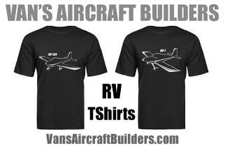 Vans Aircraft Builders RV TShirts Cotton