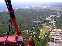 Hampton Airfield 7B3 viewed from cockpit of my Air Creation Trike.  Very active April to November. Great hamburger destination on field. Submitted by Kit Clews on 2/11/2011
